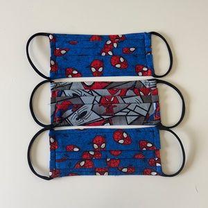 New handmade child Spider-Man face mask